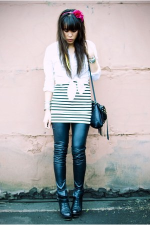 Steve Madden boots - H&M dress - BDG shirt - Forever 21 pants
