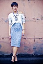 Sparkle & Fade skirt - bycorpus sweater - Jeffrey Campbell wedges