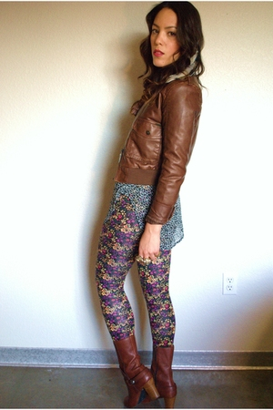 Charlotte Russe jacket - bycorpus blouse - f21 leggings - Miss Sixty shoes