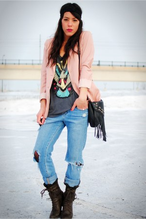 H&M blazer - Forever 21 jeans - Dollhouse shoes