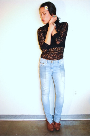 Forever 21 blouse - H & M jeans - Forever 21 shoes