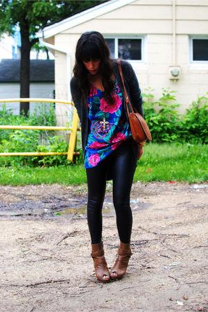 Forever 21 boots - thrifted dress - Forever 21 leggings