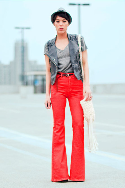 BDG jeans - f21 hat - BDG shirt - thrift vest