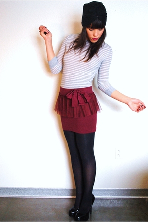 Forever 21 skirt - Forever 21 hat - thrifted shirt - Forever 21 shoes