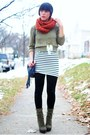 Forever-21-scarf-sweater-h-m-dress-forever-21-leggings-steve-madden-boot