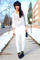 Forever 21 hat - Forever 21 blouse - blouse - H&M - Urban Outfitters jeans - Dol