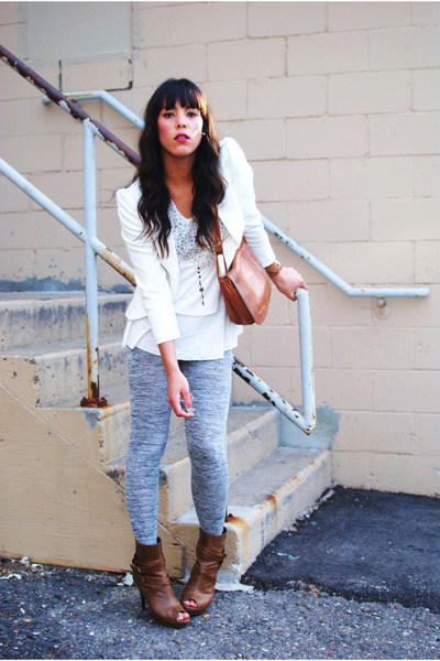 Urban Outfitters blazer - Urban Outfitters blouse - Heritage 1981 leggings - For