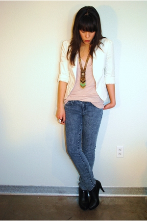 Forever 21 jacket - Forever 21 jeans - Forever 21 boots