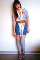 thrifted scarf - Forever 21 belt - vintage shorts - Target socks - Forever 21 sh