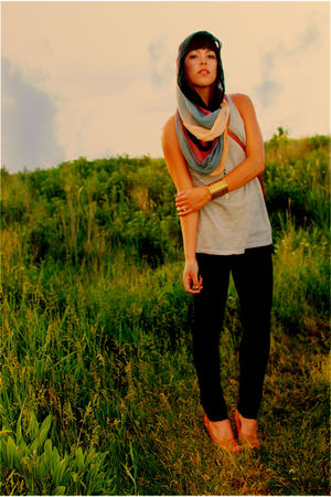 Forever 21 jeans - Nordstrom Rack scarf - thrifted bag