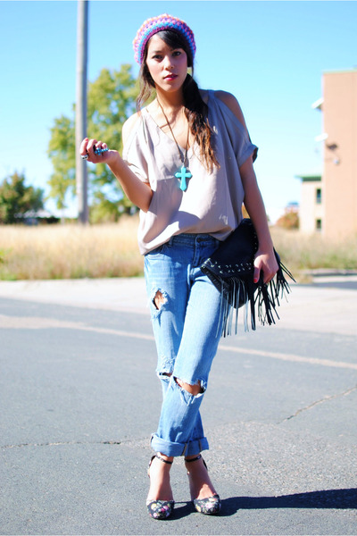Forever 21 blouse - Forever 21 jeans - H&M bag - Forever 21 shoes