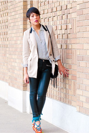 Jeffrey Campbell shoes - Romwecom blazer - vintage blouse - H&M pants