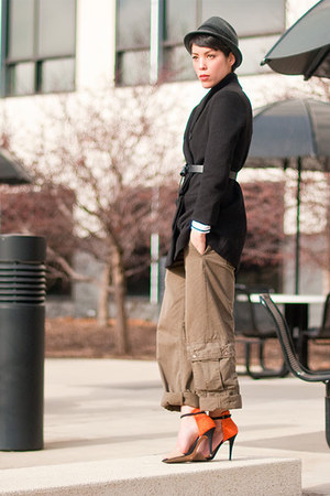 Romwecom coat - Forever 21 hat - Forever 21 belt - thrift pants - Zara heels