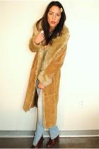 vintage coat - H&M jeans - Miss Sixty shoes