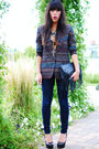 Thrifted-blazer-h-m-bag-forever-21-jeans-forever-21-shoes