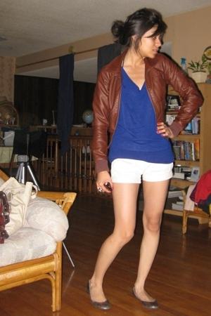jacket - blouse - shorts