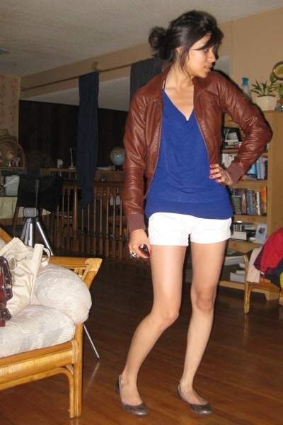 jacket - blouse - shorts