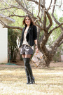 Black-aldo-boots-black-zara-blazer-topshop-shorts