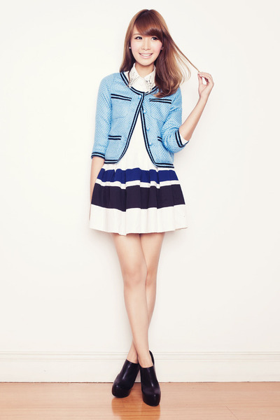light blue Kristines Collection jacket - black sugarfree shoes boots