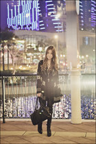 black over-the-knee Aldo boots - black loose from singapore dress - black Mphosi