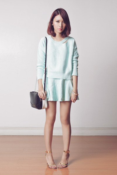 aquamarine set Choies sweater - black two tone Marc by Marc Jacobs bag