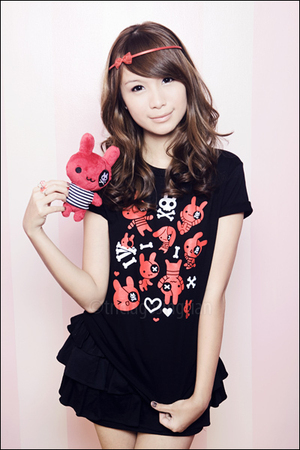 black Cute Plush top - red Cute Plush - red Cute Plush - red from a bazaar - bla