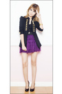 Black-pink-manila-jacket-black-topshop-top-purple-people-are-people-skirt-