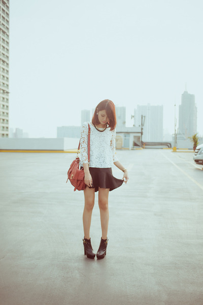 black esperanza boots - brick red ps1 PROENZA SCHOULER bag