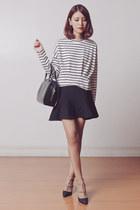 Kate Katy shoes - black Louis Vuitton bag - white Kate Katy top