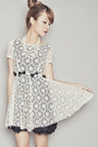 Off-white-romwe-dress-black-forever-21-heels-white-forever-21-necklace