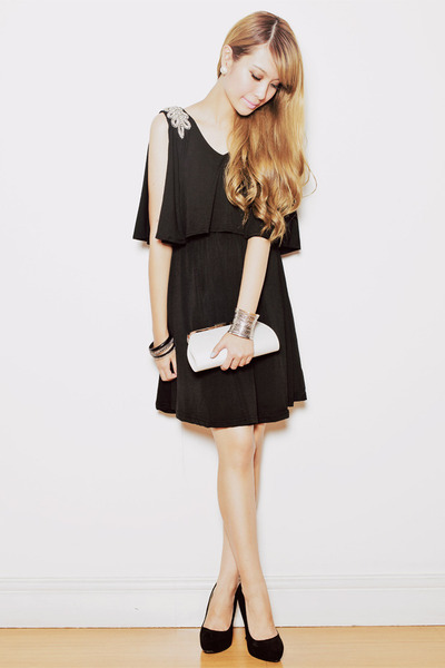 black My Spring Fling dress - black Zara heels