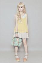 Aldo bag - Asian Vogue shoes - frou frou top - frou frou skirt