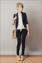 black Levis blazer - light brown School of Satchel bag