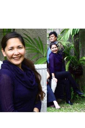 purple WG sweater - black Cherry Li pants - black Rusty Lopez shoes - bracelet