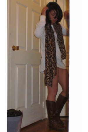 American Apparel dress - Aldo boots - fabric store scarf