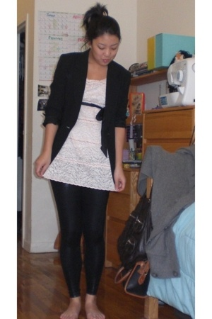 Jones New York blazer - American Apparel leggings - DIY dress