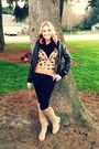 Qupid-boots-leather-forever-21-jacket-kohls-sweater-china-town-sf-scarf