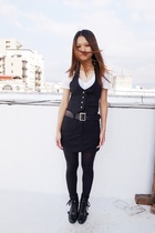 black shake shake vest - black Ninewest boots