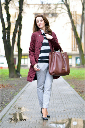 Zara coat - Zara pants - Mango vest