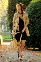 black Mango dress - mustard Zara coat