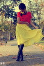 Black-miss-sixty-boots-carrot-orange-custom-made-blouse-yellow-asos-skirt