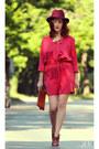 Ruby-red-zara-dress-brick-red-manolo-blahnik-sandals