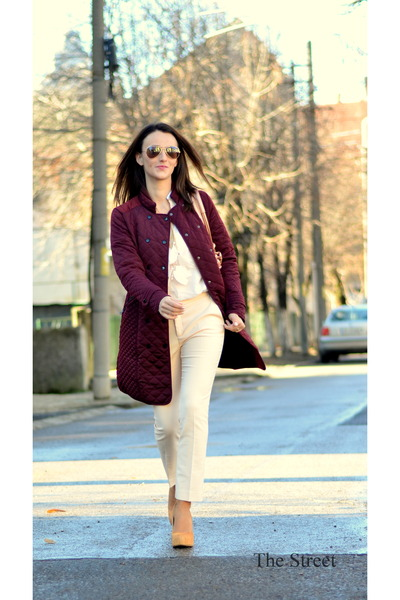 Zara coat - Zara pants - Zara blouse - Pour La Victoire pumps