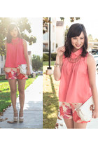 pink ann taylor shorts - bubble gum Blaque Muse top