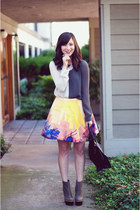 magenta rachel roy skirt - heather gray Sandra Weil top