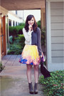 Magenta-rachel-roy-skirt-heather-gray-sandra-weil-top