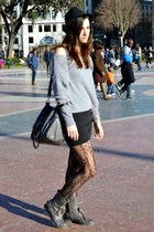 Shana hat - Coolway boots - Stradivarius bag - Bershka skirt