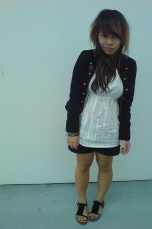 jacket - Gap top - cotton on shorts - Topshop shoes
