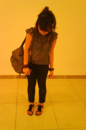 cotton on blouse - jeans - scarletroom purse - Topshop shoes