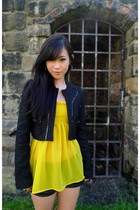 River Island jacket - Zara blouse - Topshop shorts